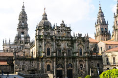 Santiago De Compostela Cathedral. View of Santiago De Compostela Cathedral Royalty Free Stock Photo