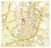 Santiago de Compostela city map, Spain Royalty Free Stock Images