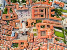 Santiago de Compostela em Galiza, Espanha Imagens de Stock Royalty Free