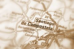 Santiago de Compostela, España - Europa Foto de archivo libre de regalías
