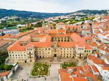 Santiago de Compostela in Galicië, Spanje royalty-vrije stock foto's