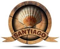 Santiago de Compostela - símbolo del peregrinaje Imagen de archivo libre de regalías