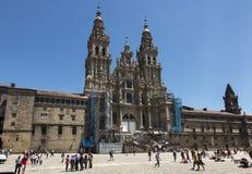 Santiago de Compostela, Spain -June 14, 2018: Santiago de Compos royalty free stock photography