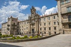 Santiago de Compostela Spanien Kloster av St Martin Pinario Arkivbild