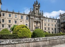 Santiago de Compostela, Spanien Kloster von St. Martin Pinario lizenzfreies stockfoto