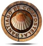 Santiago de Compostela - symbole de pèlerinage illustration de vecteur