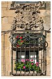 Santiago de Compostela - Windows Royalty Free Stock Photography