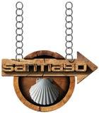 Santiago de Compostela  - Wooden Sign Stock Images