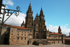 Santiago de Compostella stockbild