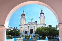 Santiago de Cuba的大教堂 库存照片