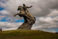 Santiago de Cuba, Cuba : Antonio Maceo Monument Le Général Maceo était un chef célèbre de l'indépendance de guérillero La sculptu Photographie stock libre de droits