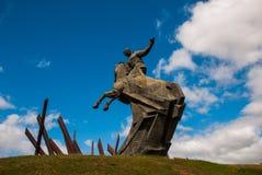Santiago de Cuba, Cuba : Antonio Maceo Monument Le Général Maceo était un chef célèbre de l'indépendance de guérillero La sculptu Photographie stock