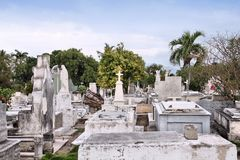 Santiago de Cuba cemetery Royalty Free Stock Photos