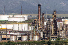 SANTIAGO DE CUBA, CUBA-November 23, 2015: Thermoelectric plant `Antonio Maceo`. Royalty Free Stock Image