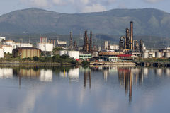 SANTIAGO DE CUBA, CUBA-November 23, 2015: Thermoelectric plant `Antonio Maceo`. Stock Photography