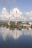 SANTIAGO DE CUBA, CUBA-November 23, 2015: Thermoelectric plant `Antonio Maceo`. Royalty Free Stock Photo