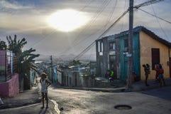 Santiago de Cuba gator arkivbild