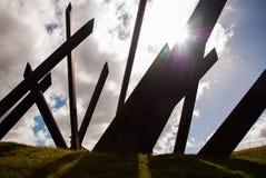 Santiago de Cuba, Cuba : La sculpture est située à la place de révolution Photographie stock