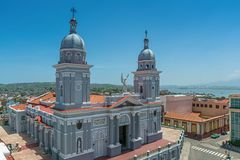 Cathedral Basilica of Our Lady of the Assumptio in Santiago de Cuba stock photos