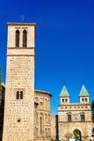 Santiago del Arrabal Church and Puerta de Bisagra Nueva Gate in Toledo, Spain. Santiago del Arrabal Church and Puerta de Bisagra Nueva Gate in Toledo - Spain Royalty Free Stock Images