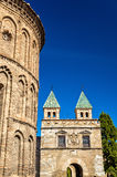 Santiago del Arrabal Church and Puerta de Bisagra Nueva Gate in Toledo, Spain. Santiago del Arrabal Church and Puerta de Bisagra Nueva Gate in Toledo - Spain Stock Photos
