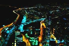 Santiago di notte da sopra Fotografie Stock Libere da Diritti