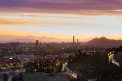 Santiago doet Chili Stock Fotografie
