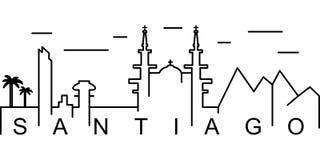 Santiago-Entwurfsikone Kann für Netz, Logo, mobiler App, UI, UX verwendet werden stock abbildung