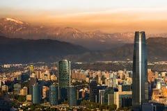 Santiago fa il Cile Fotografia Stock Libera da Diritti