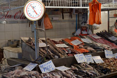Santiago Fish Market Royalty-vrije Stock Foto's