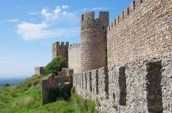 Santiago font le château de Cacem Images libres de droits