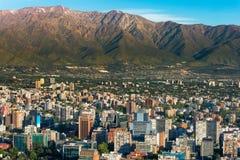 Santiago font le Chili photo libre de droits