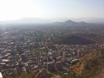 Santiago från berget Arkivbilder