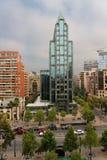 Santiago hace el centro de la ciudad de Chile imagen de archivo