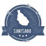 Santiago Island logo sign. Royalty Free Stock Photo