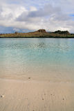 Santiago island seen from the beach of  Chinese Hat island, Gala Stock Photography