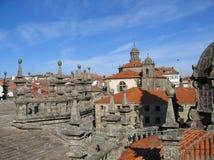 Santiago katedralny widok Fotografia Stock