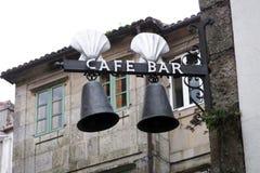 Santiago kawiarni bar Zdjęcia Royalty Free