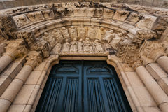 Santiago-Kirche Archivolts im La Coruña lizenzfreies stockfoto