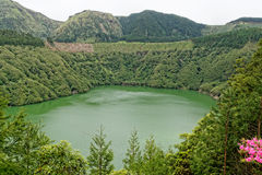 Santiago lagoon on the island of Sao Miguel Royalty Free Stock Photography