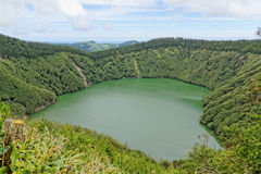 Santiago lagoon on the island of Sao Miguel Stock Photo