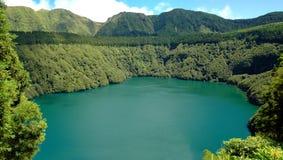 Santiago Lagoon, in Sao Miguel, Azores Stock Images