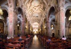 Santiago Metropolitan Cathedral, Chile stockbilder