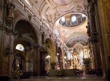 Santiago Metropolitan Cathedral, Chile. Interior of Santiago Metropolitan Cathedral, Chile Royalty Free Stock Images