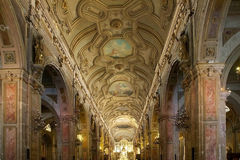 Santiago Metropolitan Cathedral Santiago de Chile, Chile Royaltyfria Foton