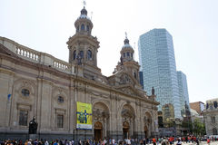 Santiago Metropolitan Cathedral, Santiago de Chile, Chile Stock Photo