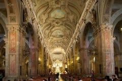 Santiago Metropolitan Cathedral, Santiago de Chile, Chili image stock