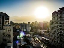 Santiago miasta widok Chile z drapacz chmur obraz stock