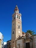 Santiago parish church bell tower, Ecija, Spain. Stock Photos