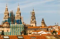 Santiago`s Cathedral in restoration. Santiago de Compostela`s Cathedral in restoration. Spain Royalty Free Stock Photos